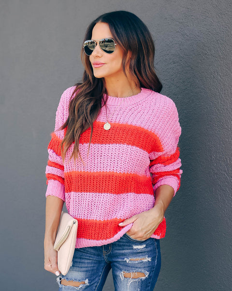 Lorax Fuzzy Striped Knit Sweater  - FINAL SALE