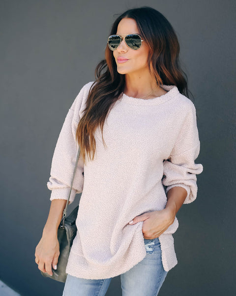 Bradley Soft Knit Pullover - Nude - FINAL SALE