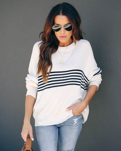 Jared Striped Knit Top