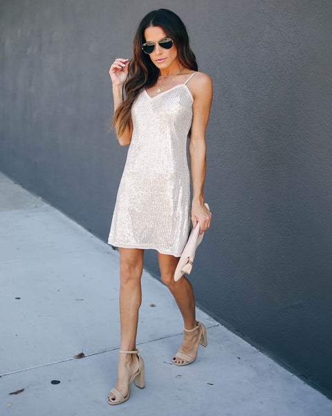 Toast To You Sequin Mini Dress
