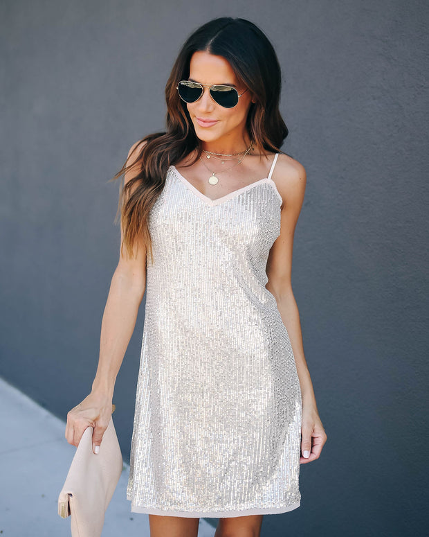 Toast To You Sequin Mini Dress  - FINAL SALE