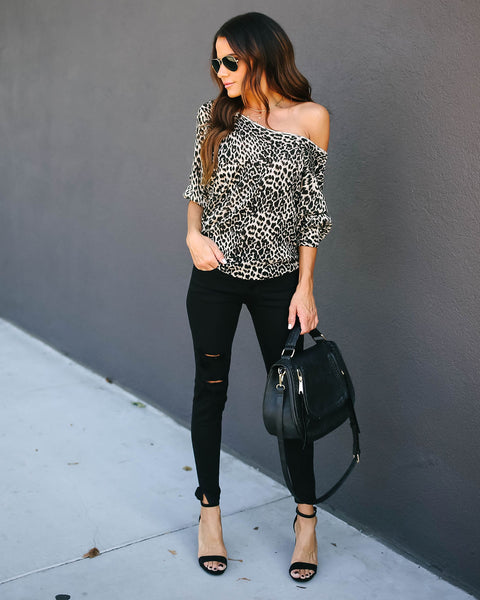 Phineas Leopard Knit Sweater