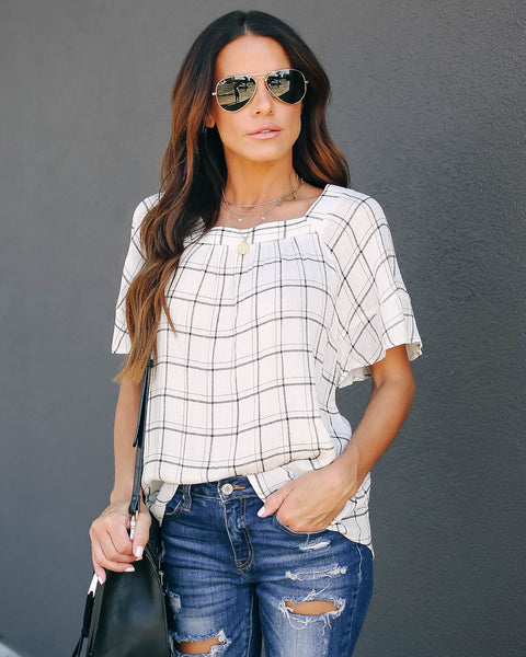 Rumer Plaid Babydoll Top