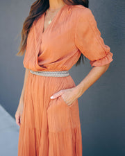 Guardian Angel Pocketed Tiered Maxi Dress - Butterscotch - FINAL SALE