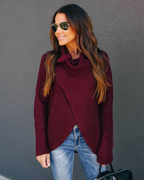 Made With Love Sweater - Wine