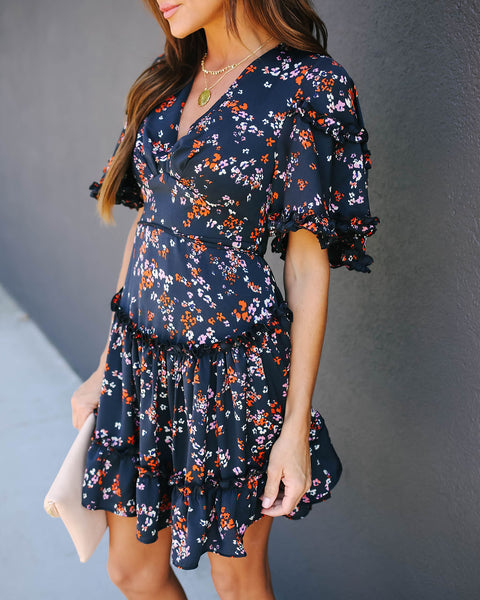 No Doubt Tiered Ruffle Dress