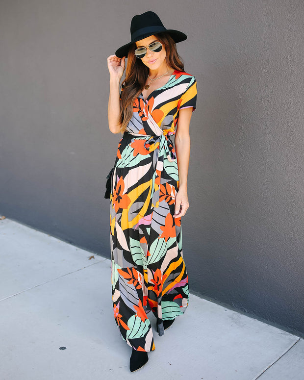 Salvador Bardot Wrap Maxi Dress   - FINAL SALE