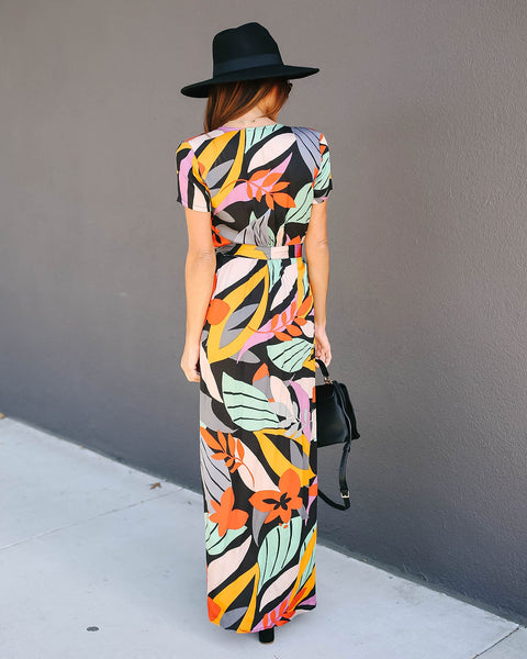 Salvador Bardot Wrap Maxi Dress
