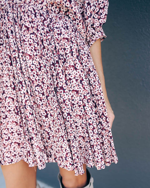 Flush Of Dawn Babydoll Swing Dress - FINAL SALE