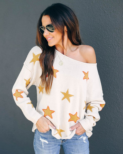Arts And Crafts Cotton Knit Star Sweater