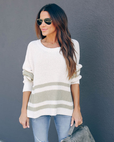 Two Peas In A Pod Striped Knit Sweater