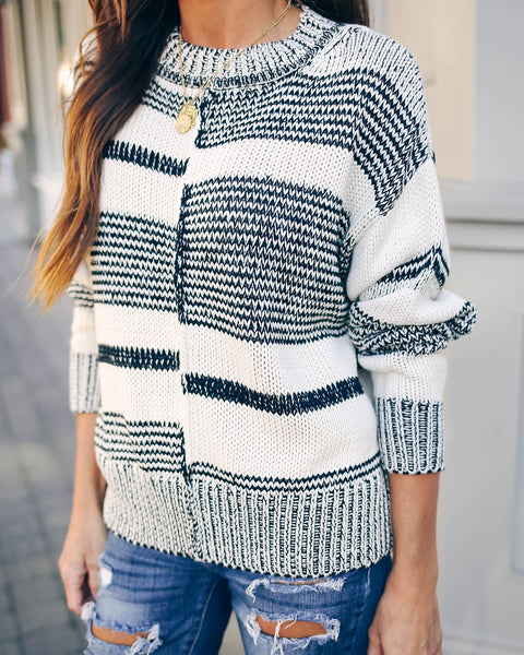Perry Striped Knit Sweater - FINAL SALE