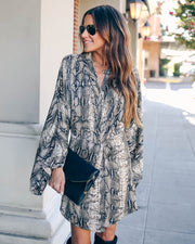 Laurent Python Print Twist Kimono Dress - FINAL SALE view 6