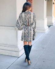 Laurent Python Print Twist Kimono Dress - FINAL SALE view 9
