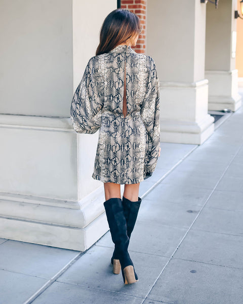 Laurent Python Print Twist Kimono Dress - FINAL SALE