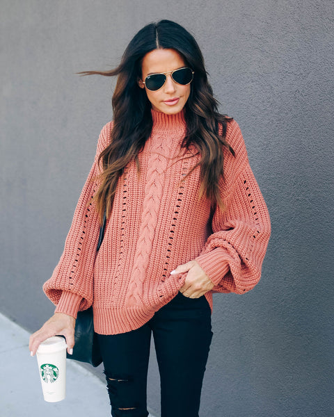 Baldwin Cotton Blend Knit Sweater