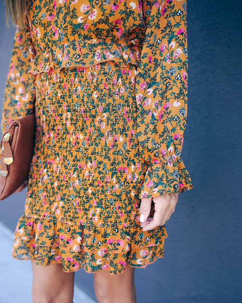 Sagrada Floral Smocked Dress  - FINAL SALE