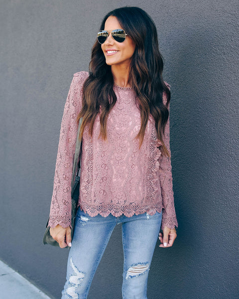 Rise And Shine Lace Top