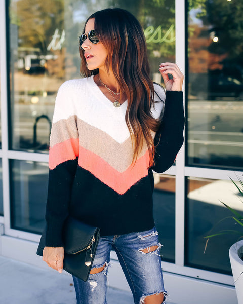 Hustle And Bustle Chevron Sweater - FINAL SALE