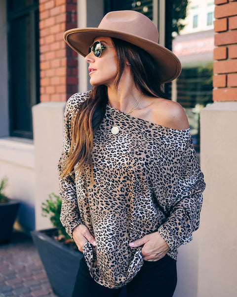 All Year Long Leopard Knit Top - FINAL SALE