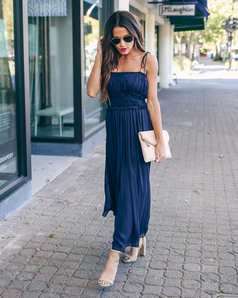 If The Shoe Fits Ruched Tie Maxi Dress - FINAL SALE