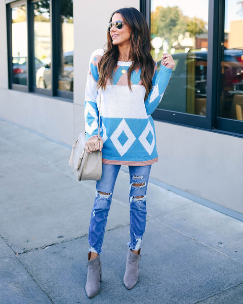 Eskimo Kisses Geometric Colorblock Sweater