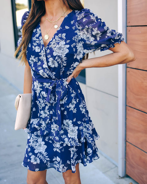 Mother Nature Floral Puff Sleeve Ruffle Dress  - FINAL SALE