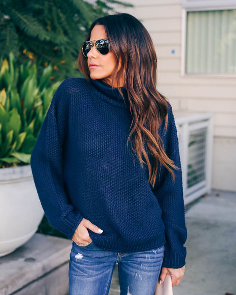 Magnolia Turtleneck Sweater - Navy