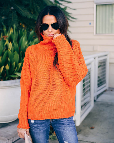 Magnolia Turtleneck Sweater - Orange