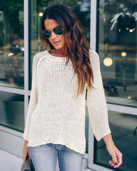 Keep Me Cozy Sweater - Ivory - FINAL SALE