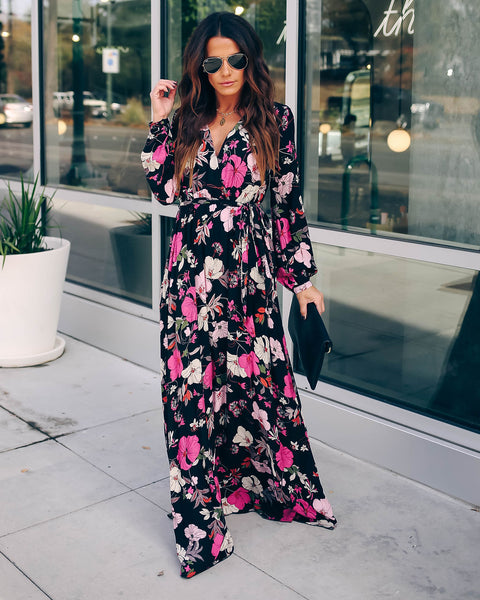 Remember Us This Way Long Sleeve Floral Maxi Dress