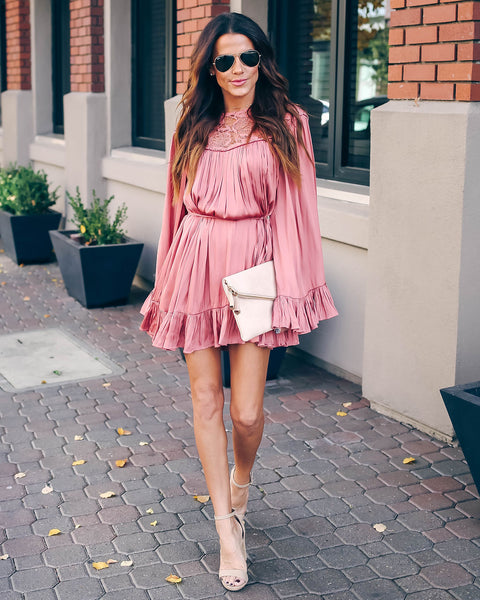 Hand In Hand Satin Crochet Dress