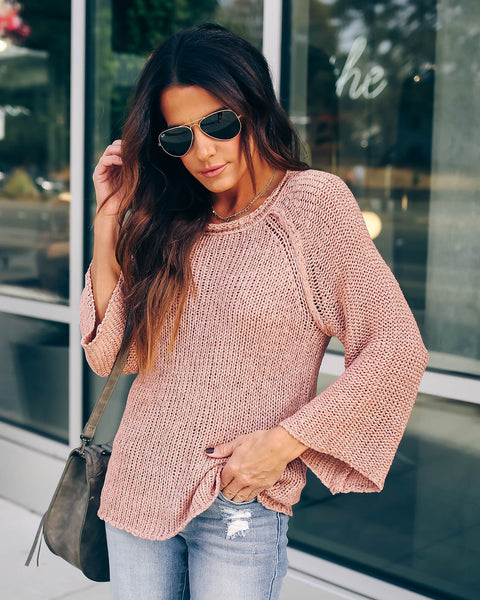 Keep Me Cozy Sweater - Blush - FINAL SALE