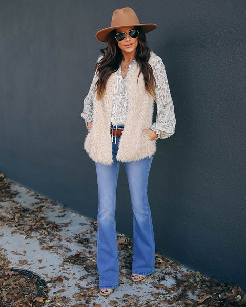 Oh What Fun Pocketed Faux Fur Vest  - FINAL SALE