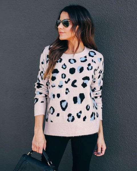 Wicked Games Leopard Knit Sweater