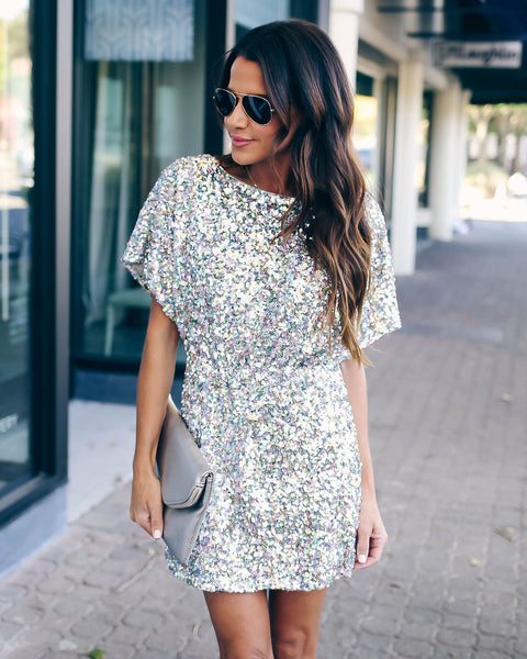 Late Night Sequin Mini Dress