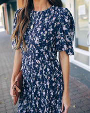 Recipe For Romance Floral Chiffon Midi Dress - FINAL SALE