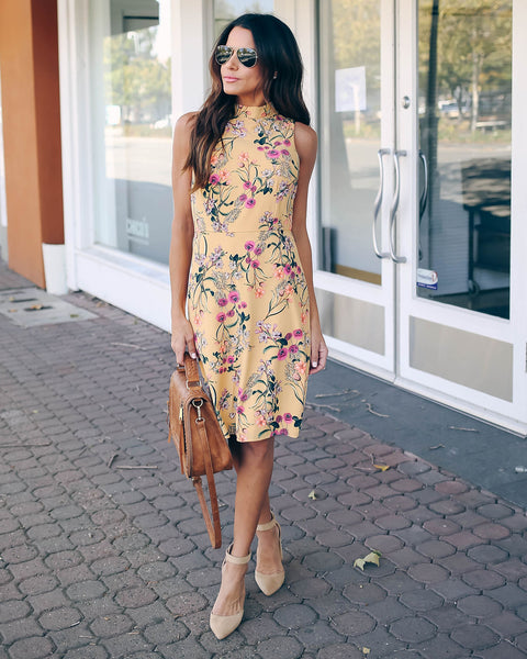 Succulent Garden Sleeveless Dress