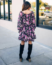Pumpkins And Posies Floral Ruffle Dress - FINAL SALE view 10