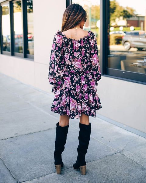 Pumpkins And Posies Floral Ruffle Dress - FINAL SALE