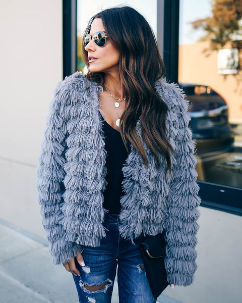 Too Glam Faux Fur Jacket