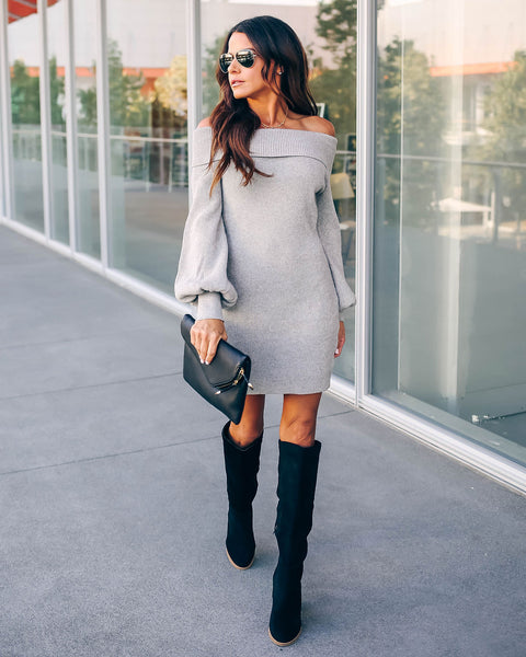 The Holidays Bodycon Sweater Dress