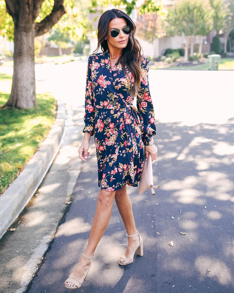 Sumaiya Floral Wrap Dress  - FINAL SALE