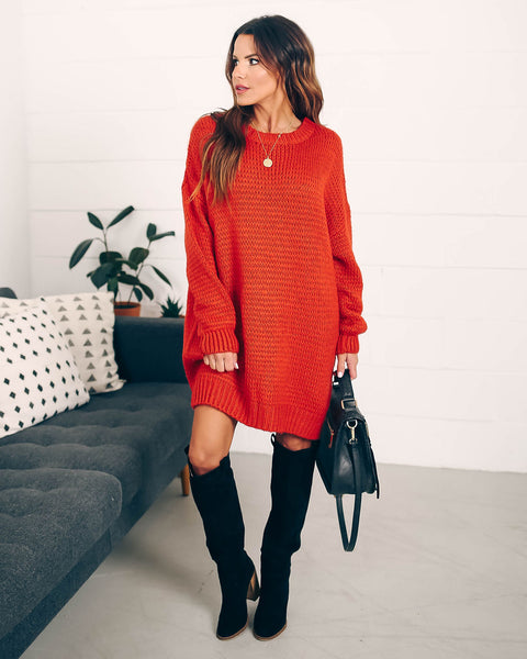 Extended Family Oversized Sweater Dress