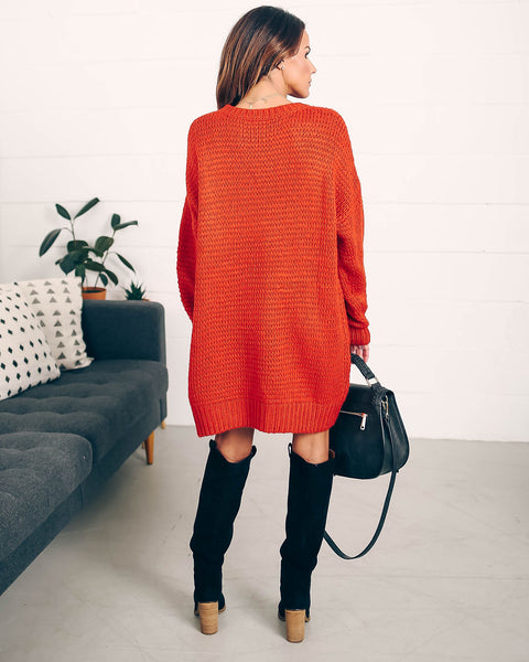 Extended Family Oversized Sweater Dress- FINAL SALE