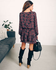 Downey Floral Smocked Ruffle Dress   - FINAL SALE