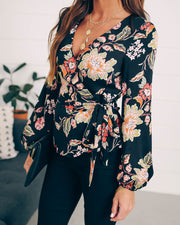 Symbolize Love Floral Wrap Top - FINAL SALE