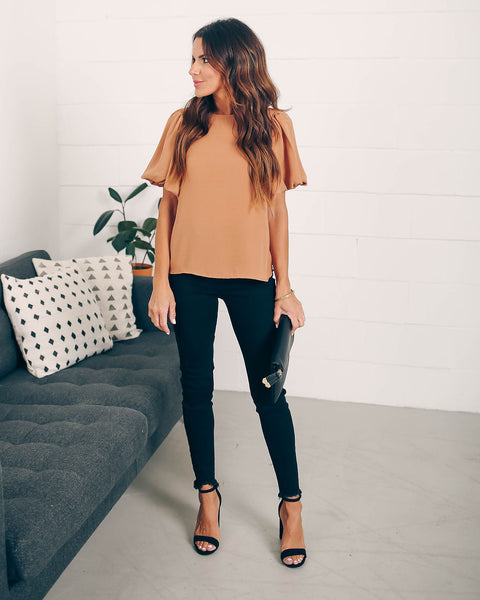 Joy To The World Puff Sleeve Blouse
