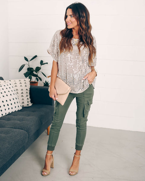 Carol Of The Bells Relaxed Sequin Top