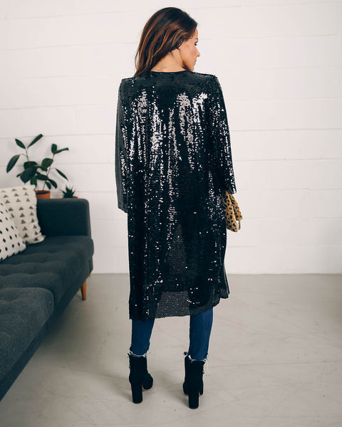Till I Walk In Sequin Cardigan  - FINAL SALE